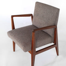 Load image into Gallery viewer, Mid Century Jens Risom Walnut Armchairs Pair of Stunning Lounge Chairs