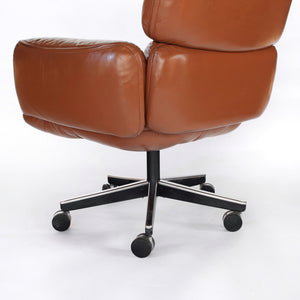 Otto Zapf for Knoll Leather Executive High Back Chair Mid Century Modern
