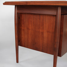 Load image into Gallery viewer, Early Edition Arne Vodder Teak w/ Cane Writing Desk