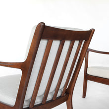 Load image into Gallery viewer, Mid Century Danish Ole Wanscher Lounge Chairs Model 107 - a Pair