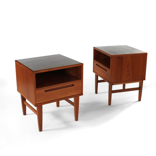 Stunning Pair of Nils Jonsson Danish Teak Nightstands
