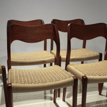 Load image into Gallery viewer, Set of 6 Niels Møller Model 71 - Teak and Paper Cord - Fully Restored