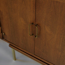 Load image into Gallery viewer, Merton Gershun for American of Martinsville in Walnut and Brass
