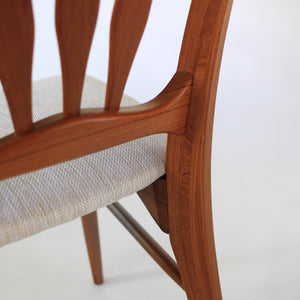 Niels Koefoed Ingrid Dining Chairs in Teak Koefoed / Hornslet of Denmark Set of 6