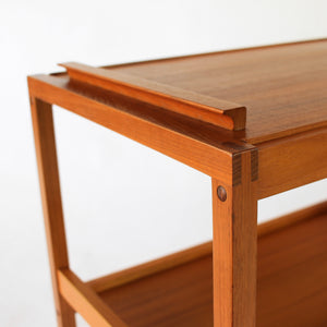 Danish Teak Serving Cart / Bar Cart