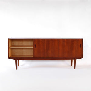 Nils Jonsson Credenza with Hutch for Troeds Mid Century Scandinavian Design Vintage Modern Sideboard Hutch / China Cabinet