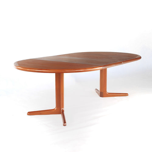 Danish Teak Extension Dining Table E. Valentinsen Møbelfabrik