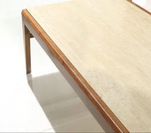 Load image into Gallery viewer, Mid-Century Walnut Travertine Coffee Table & End Tables