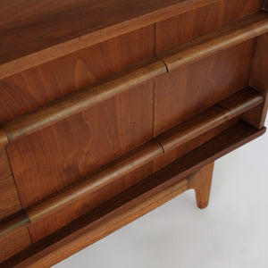 Long Low Bowed Front Credenza by Young Mfg
