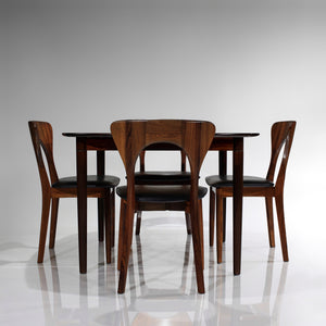 RARE Rosewood 'Peter' Chairs by Niels Koefoed and Rosewood Table by Rastad Relling