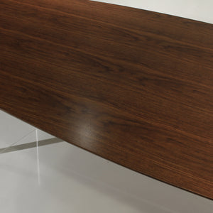 Florence Knoll Conference Table in Chrome and Walnut