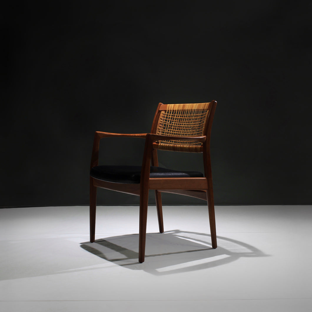 Armchair in Teak and Cane by Sylve Stenquist for Dux of Sweden