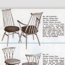 Load image into Gallery viewer, RARE Mid Century Early Ercol Goldsmith Windsor Dining Chairs - A Pair (Set of 2)