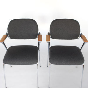 Thonet 'Golf' Chairs by Francesco Zaccone - a Pair