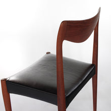 Load image into Gallery viewer, Bambi Teak Chair with Italian Leather by Rolf Rastad & Adolf Relling for Gustav Bahus of Norway.
