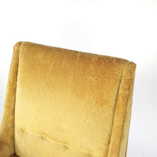 Load image into Gallery viewer, Paul McCobb style High Back Lounge Chair in Yellow / Gold