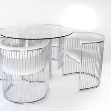 Load image into Gallery viewer, Arthur Umanoff Chrome Round Dining Set - Vintage Mid Century Modern