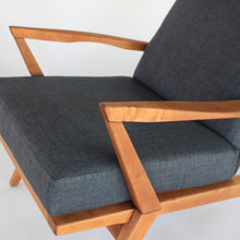 Load image into Gallery viewer, Mid Century Modern Sculptural Lounge Chair High Back