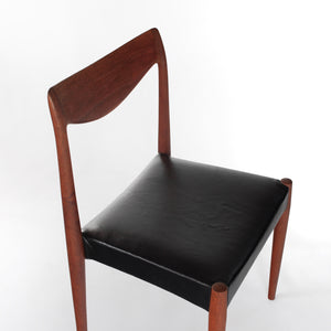 Bambi Teak Chair with Italian Leather by Rolf Rastad & Adolf Relling for Gustav Bahus of Norway.