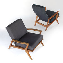 Load image into Gallery viewer, Sculptural Mid Century Modern Lounge Chairs - Set of 2
