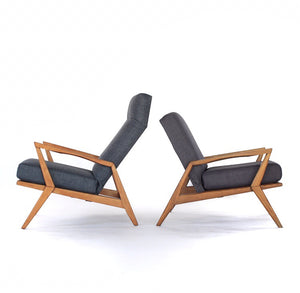 Sculptural Mid Century Modern Lounge Chairs - Set of 2
