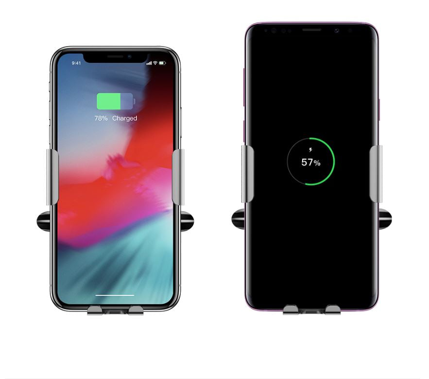 Qi Car Wireless Charger For iPhone Xs Max XR X Samsung Intelligent Infrared Sensor Fast Wirless Charging Car Phone Holder