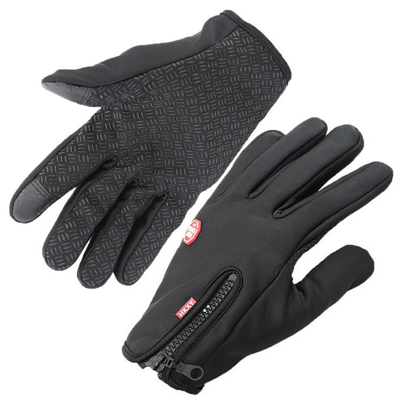 Men's  Women's Windstopers Gloves With Anti Slip Protected Windproof Thermal Warm Mobile phones Touchscreen Glove WinterZipper Gloves