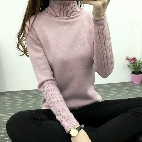 Women's Turtleneck Winter Sweater Warm n Heat Women Newest 2018 Long Sleeve Knitted  Sweaters And Pullovers For Female Jumper Tricot Tops