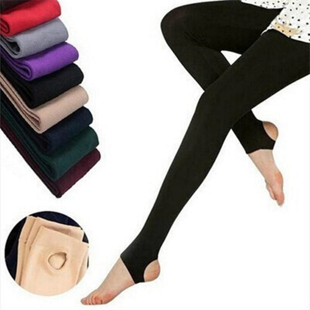 Newer Casual Fashion Warm Velvet Winter Women Leggings Knitted Thick Slim Women's Leggings Solid Pants