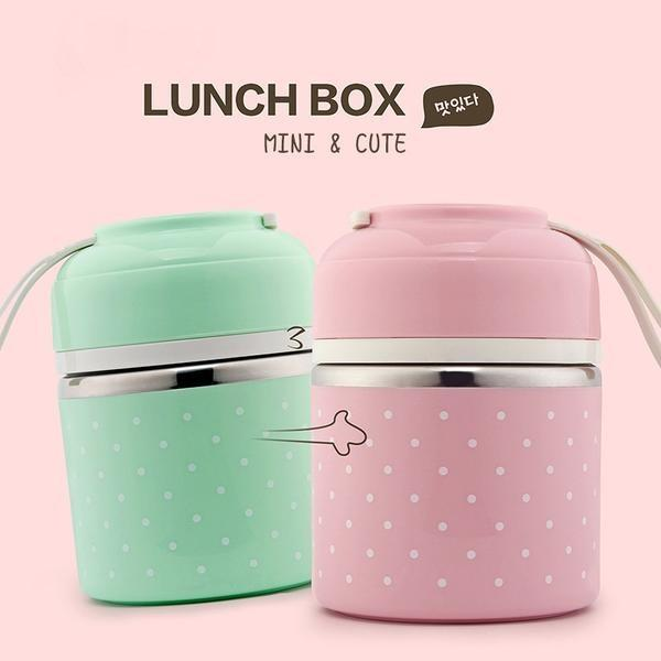 Newest Cute Thermal Lunch Box Leakage-Proof Stainless Steel Bento Box Kids Portable Picnic & Journey School Food Container Box