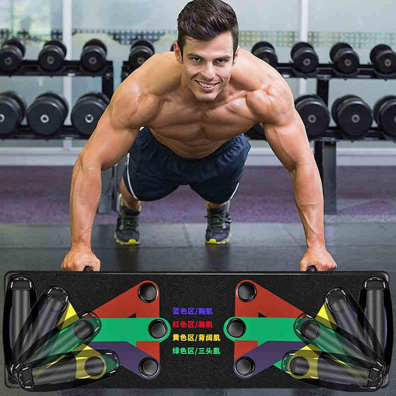 Push Up Board 9 System Men Women Fitness Exercise Workout Push-up Stands Body Building Training Gym