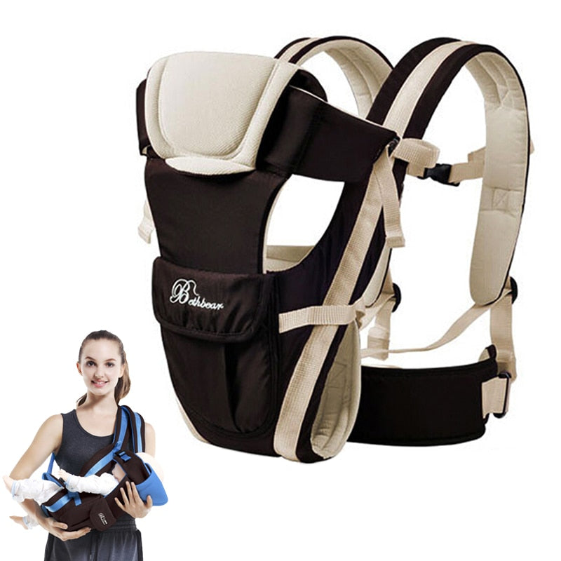 Hot Sale Babies 0-30 Months Back & Front Breathable Facing Baby Carrier 4 in 1 Infant Comfortable Sling Backpacks Pouch Wrap Baby