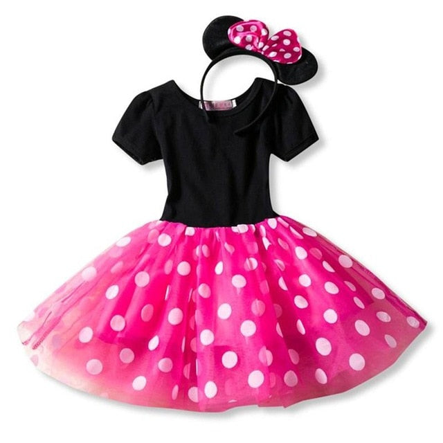 Newest Fancy 1 Year Old Birthday Party Dress For Happy Halloween Cosplay Minni Mouse Dress Up for Little Kid Costume Baby Girls Clothing For Kids 2 6T Wear