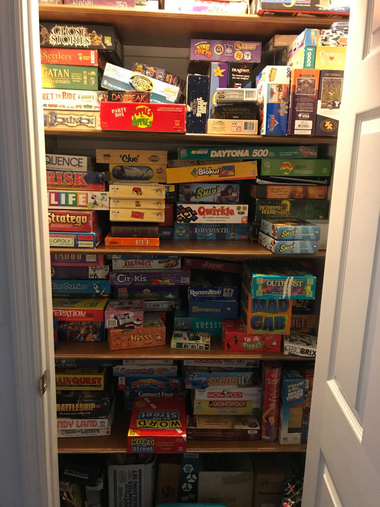 My parents' board game closet