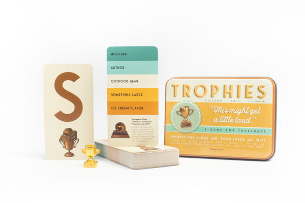 Trophies card game components