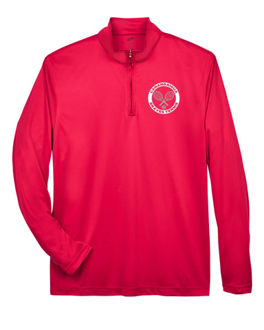 CA TENNIS  UltraClub Men's Cool & Dry Sport Performance Interlock Quarter-Zip Pullover
