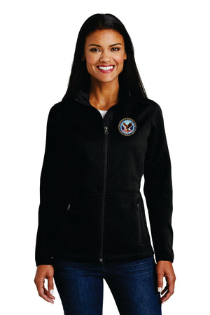 VA Port Authority® Ladies Pique Fleece Jacket