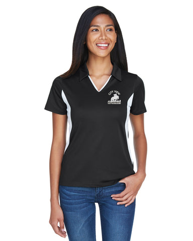 Harriton Ladies' Side Blocked Micro-Piqué Polo