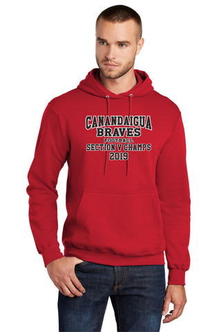 BRAVES FOOTBALL SECTION V CHAMPS HOODIE