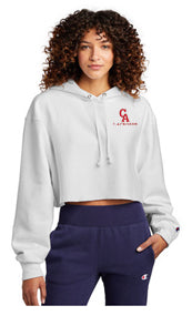 CA LAX Champion ® Women's Reverse Weave ® Cropped Cut-Off Hooded Sweatshirt