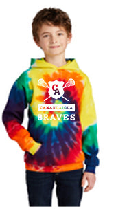 CA LAX Tie-Dye Youth 8.5 oz. Tie-Dyed Pullover Hooded Sweatshirt