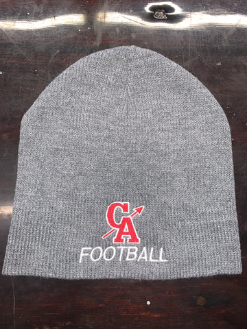 CA FOOTBALL EMBROIDERED UN-CUFFED BEANIE