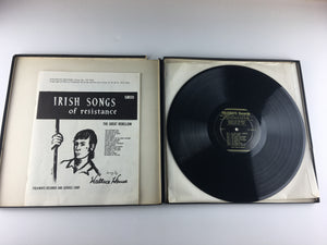 Wallace House Irish Songs of Resistance Used Vinyl LP VG\G+ FW 3002, FP 3002