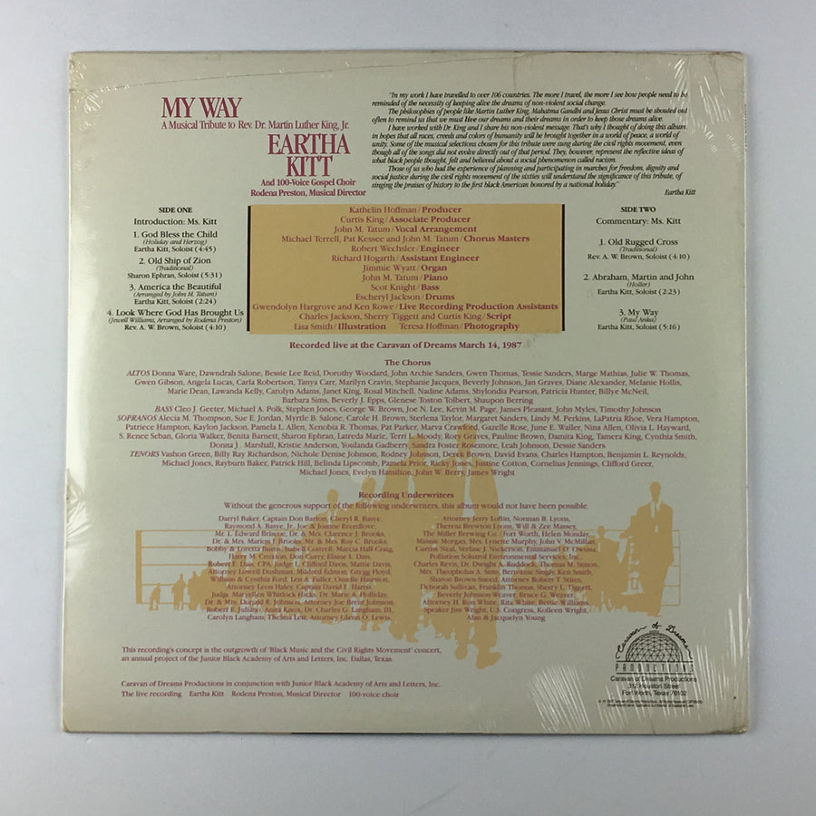 Eartha Kitt and 100-Voice Gospel Choir ‎– My Way New Sealed LP CDP85010