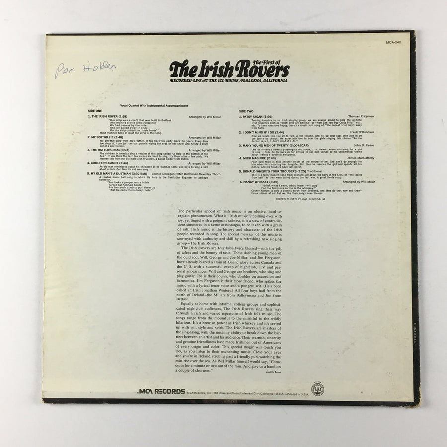 The First Of The Irish Rovers Orig Press Used LP VG\G DL 74835