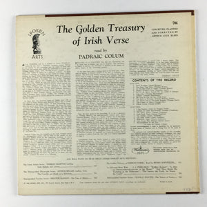 Padraic Colum ‎– The Golden Treasury Of Irish Verse Orig Press Used LP VG+