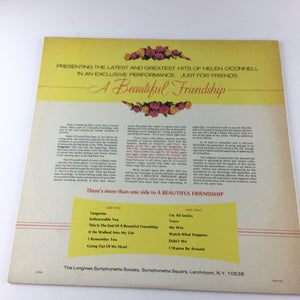 Helen O'Connell The Inimitable Helen O'Connell In A Beautiful Friendship Used Vinyl LP VG+ SYS 5243