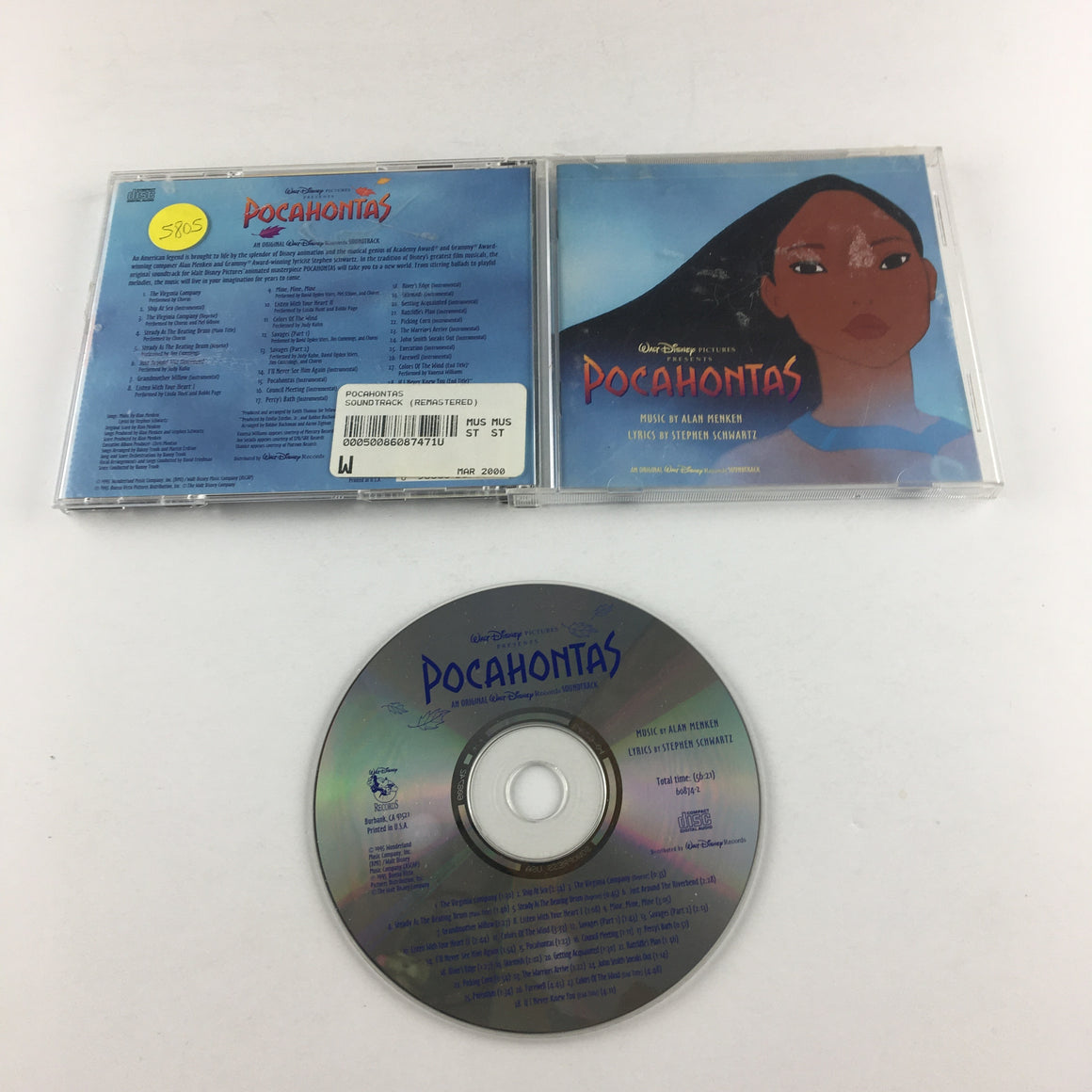 Menken, Schwartz Pocahontas (An Original Disney Soundtrack) Used CD VG+ 60874-7