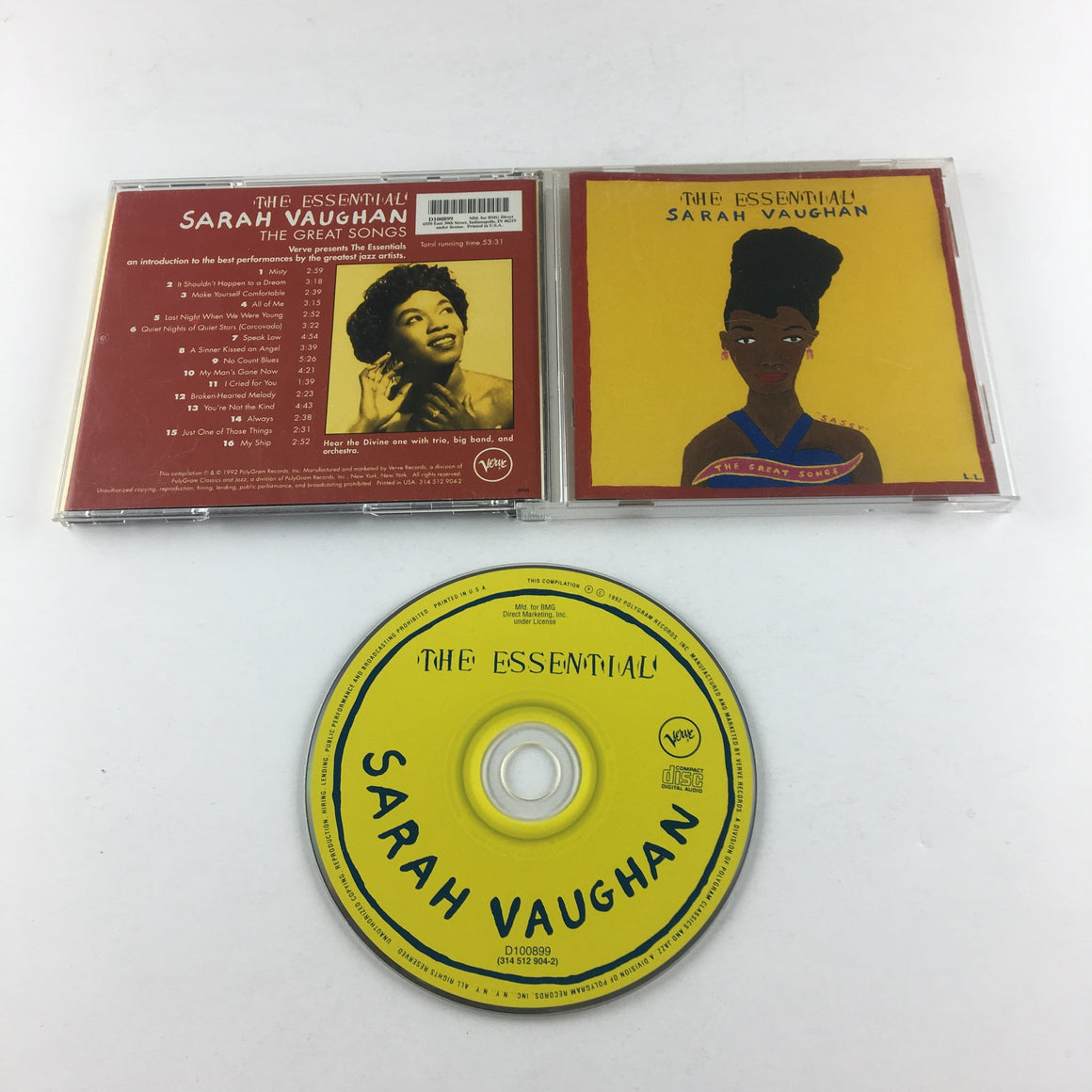 Sarah Vaughan The Essential Sarah Vaughan: The Great Songs Used CD VG 314 512 904-2