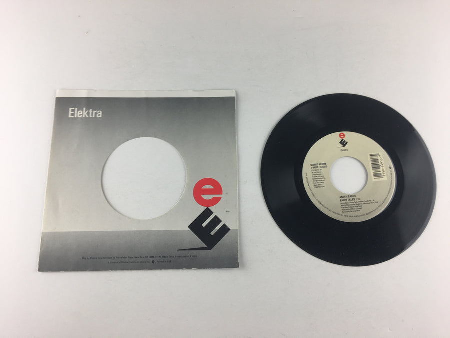 "Anita Baker Fairy Tales / Watch Your Step Used 45 RPM 7"" Vinyl VG+ 7-64910"